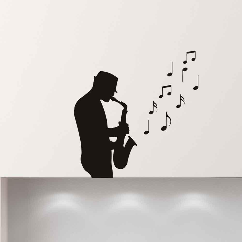 Adesivo de Parede Jazz Sax Song
