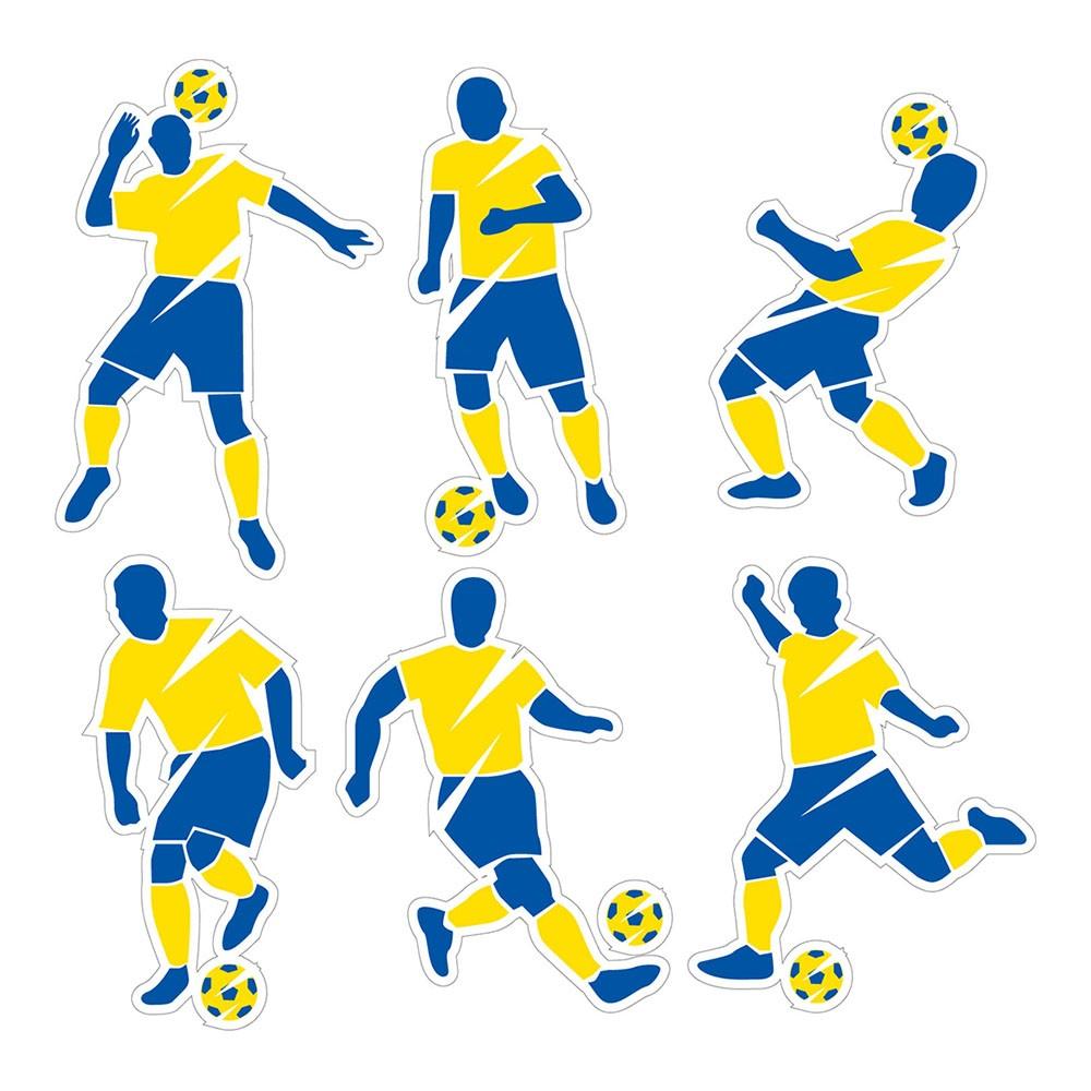 Adesivo de Parede Jogadores Futebol do Brasil