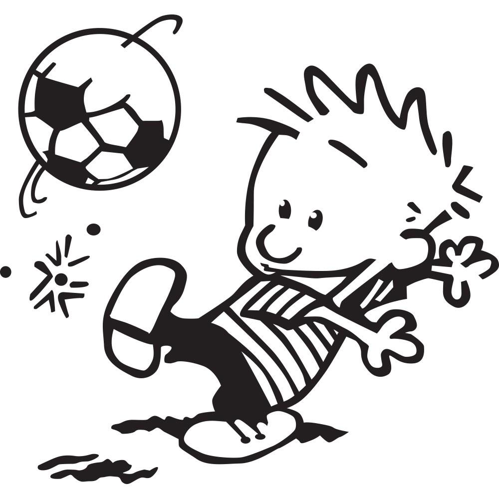 Adesivo de Parede Jogando Futebol