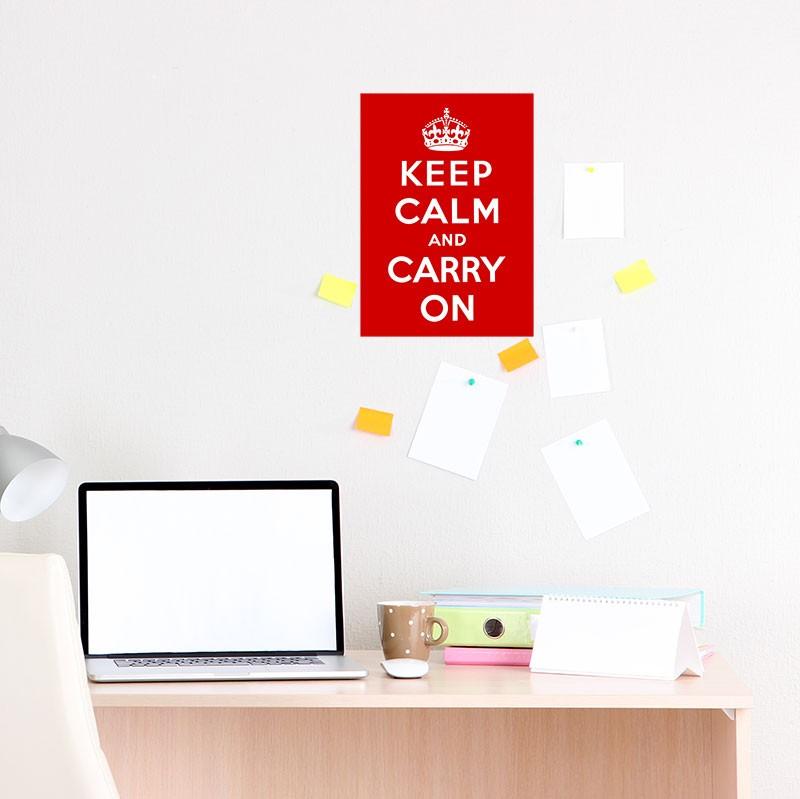 Adesivo de Parede Keep Calm and Carry On