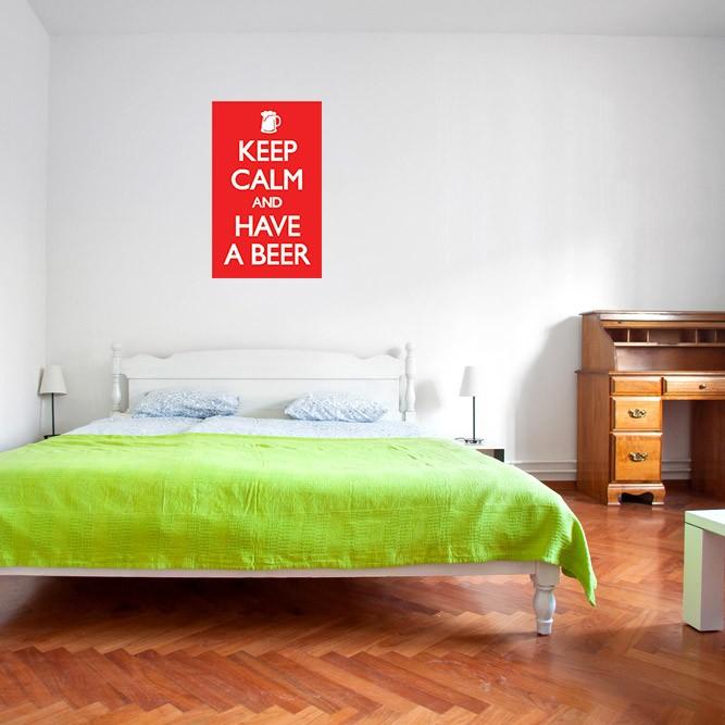 Adesivo de Parede Keep Calm And Have a Beer