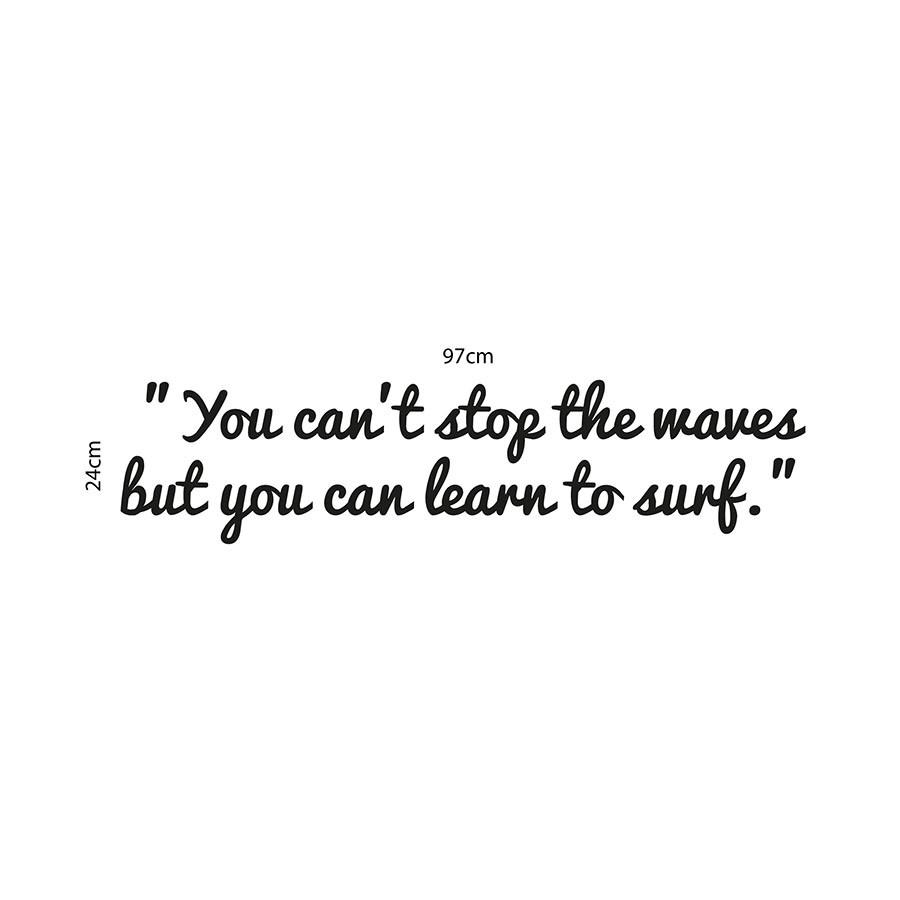 Adesivo de Parede Learn to Surf