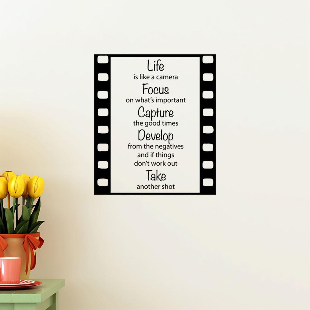 Adesivo de  Parede Life is Like a Camera