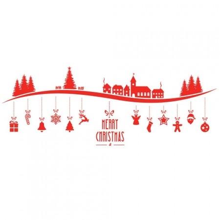 Adesivo de Parede Line Christmas
