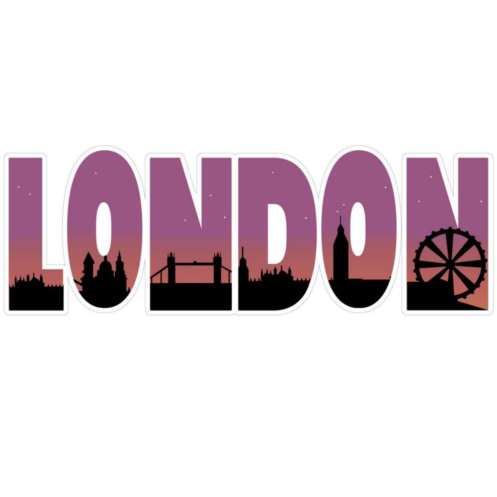 Adesivo de Parede London Escrita