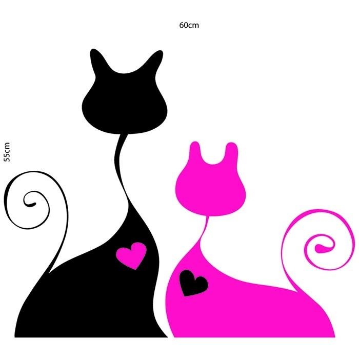 Adesivo de Parede Love Cats