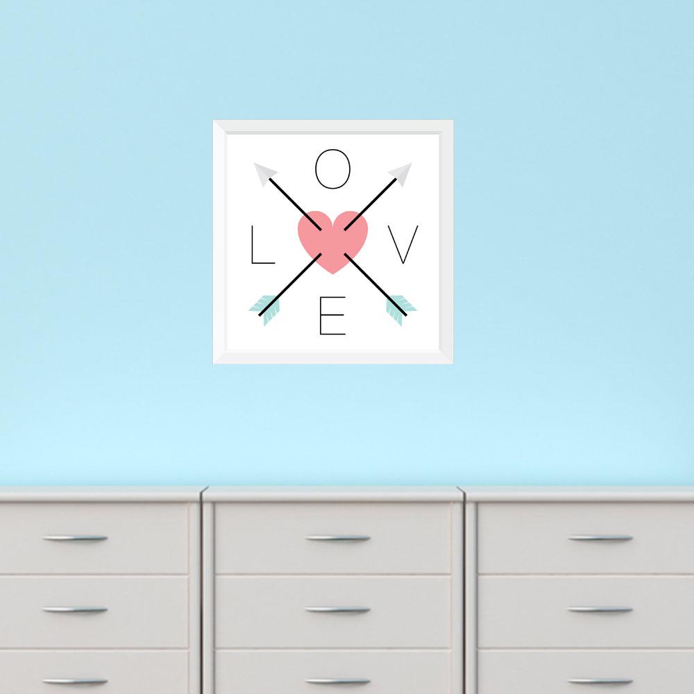 Adesivo de Parede Love Direction