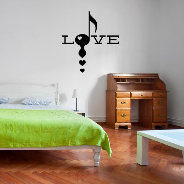 Adesivo de Parede Love Musical