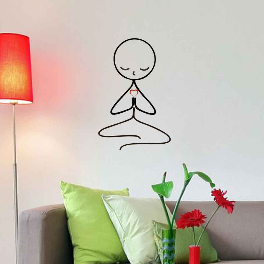 Adesivo de Parede Love Yoga
