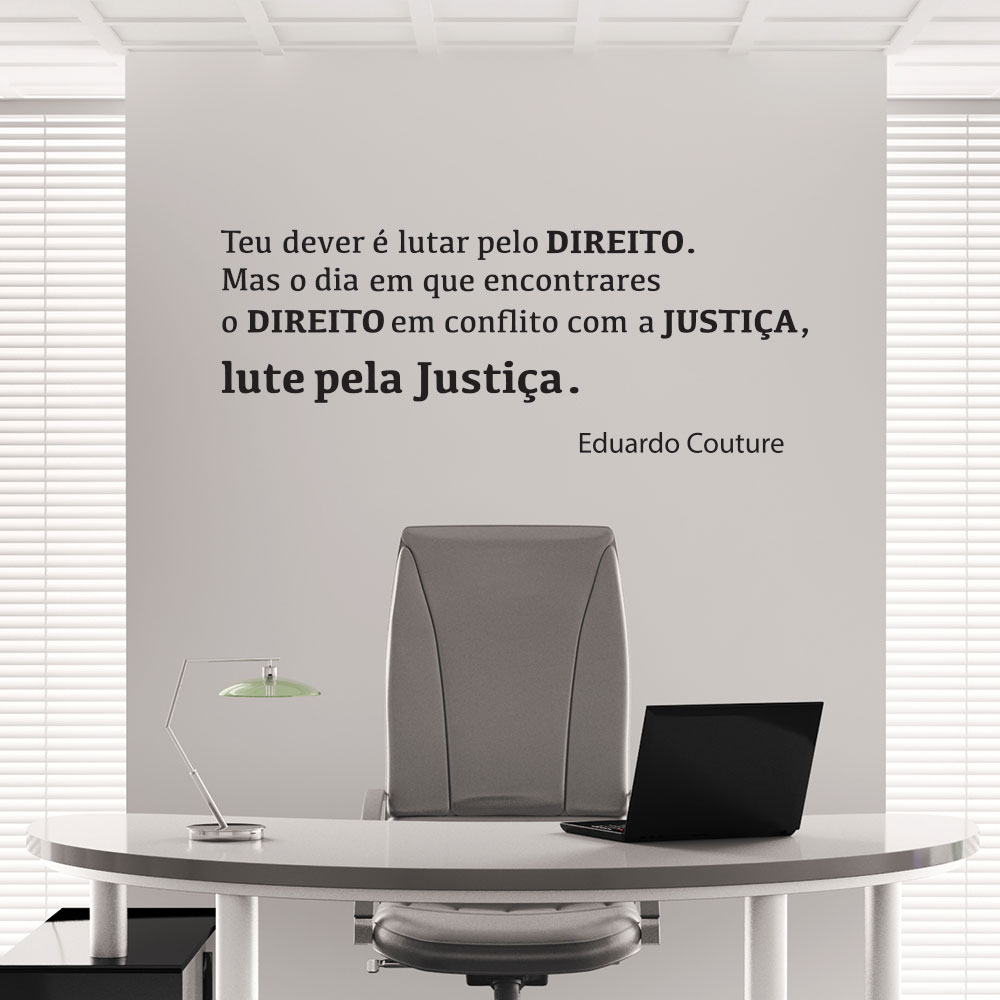 Adesivo de Parede Lute pela Justiça Direito Eduardo Couture