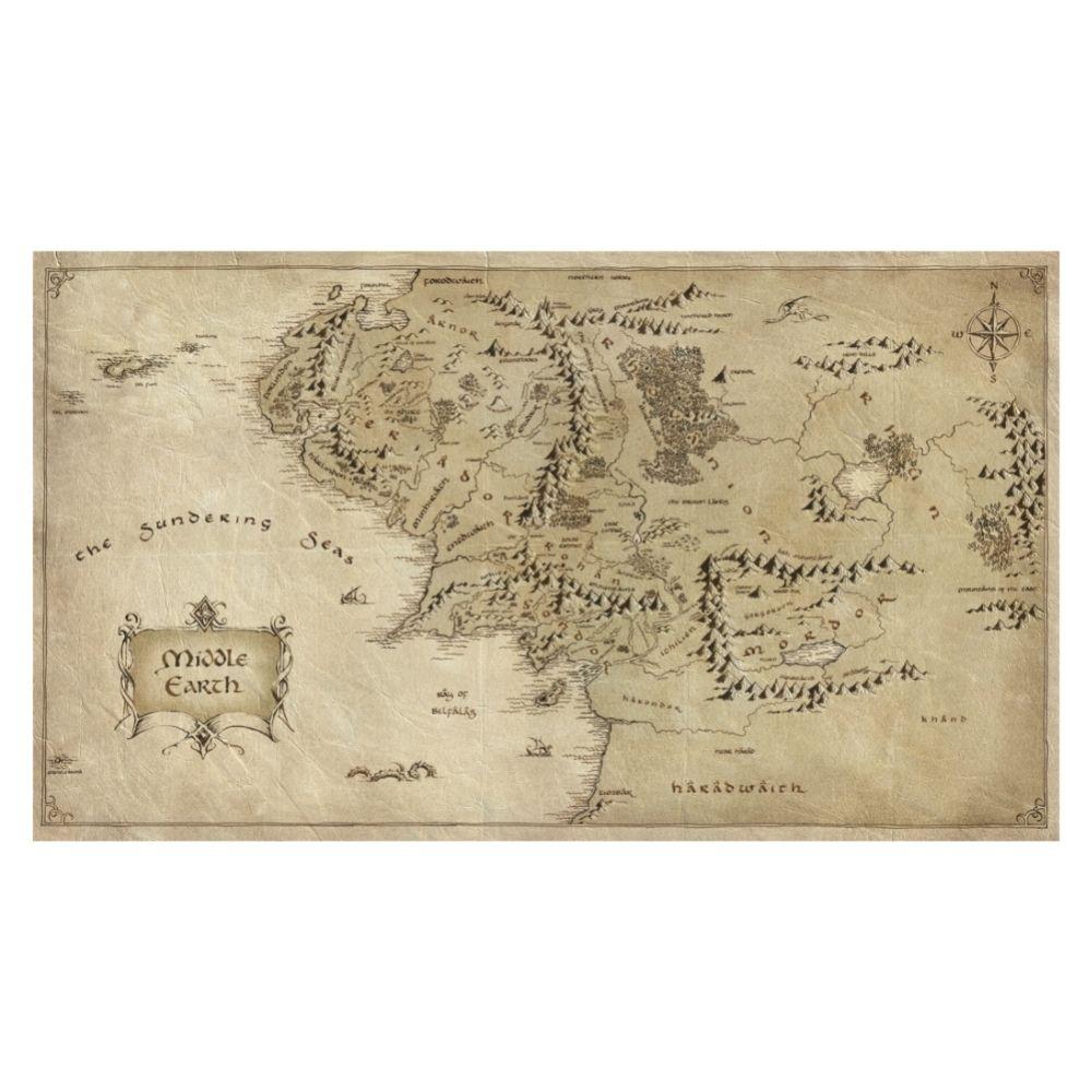 Adesivo de Parede Mapa da Terra Média