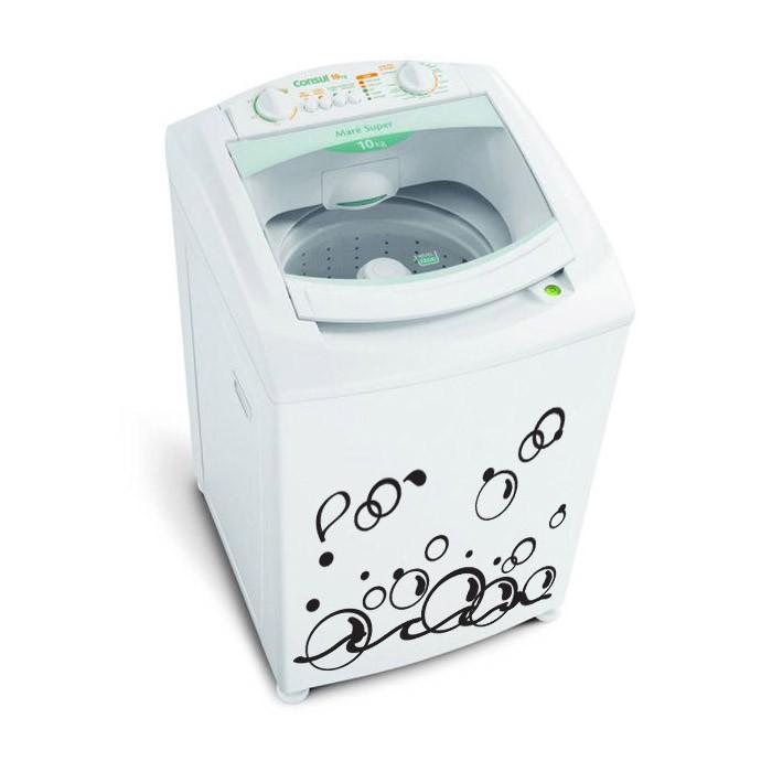 Adesivo de Parede Máquina de Lavar Bolhas de Sabão