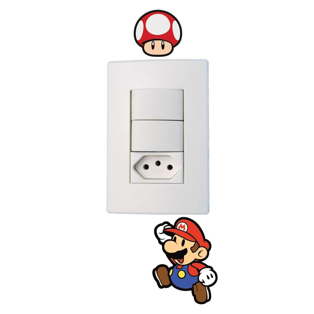 Adesivo de Parede Mario Jump Interruptor