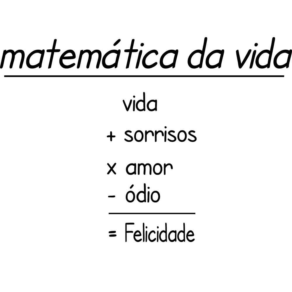 Adesivo de Parede Matemática da Vida