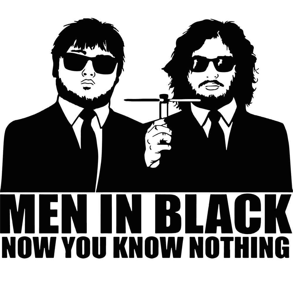 Adesivo de Parede Men In Black Now You Know Nothing