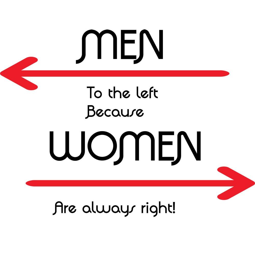 Adesivo de Parede Men Left Women Right