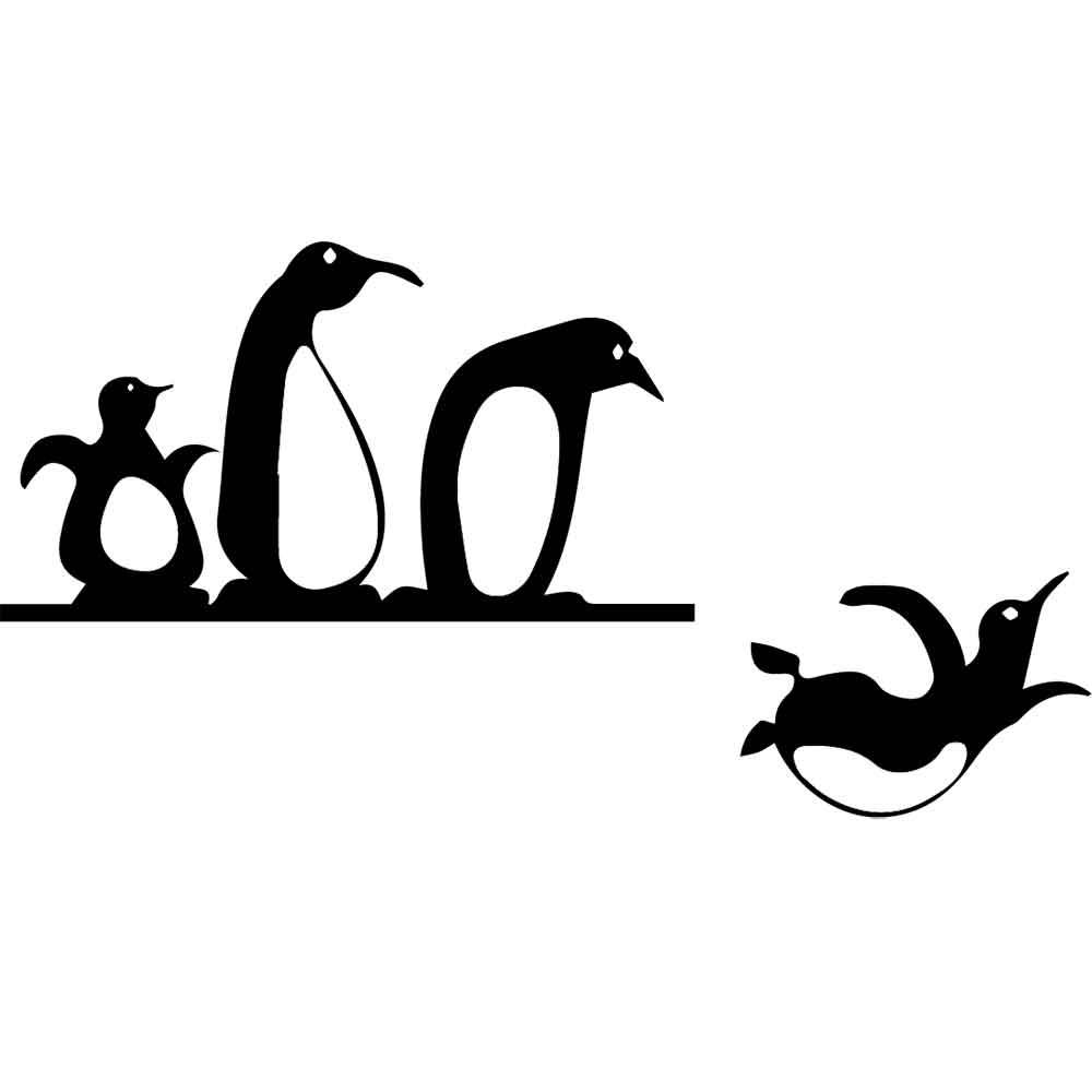 Adesivo de Parede Mergulho Pinguin