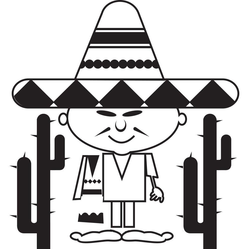 Adesivo de Parede Mexicano