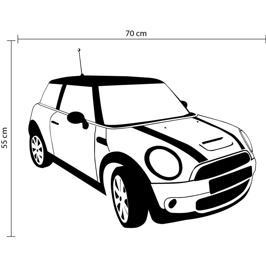 Adesivo de Parede Carro Mini Cooper