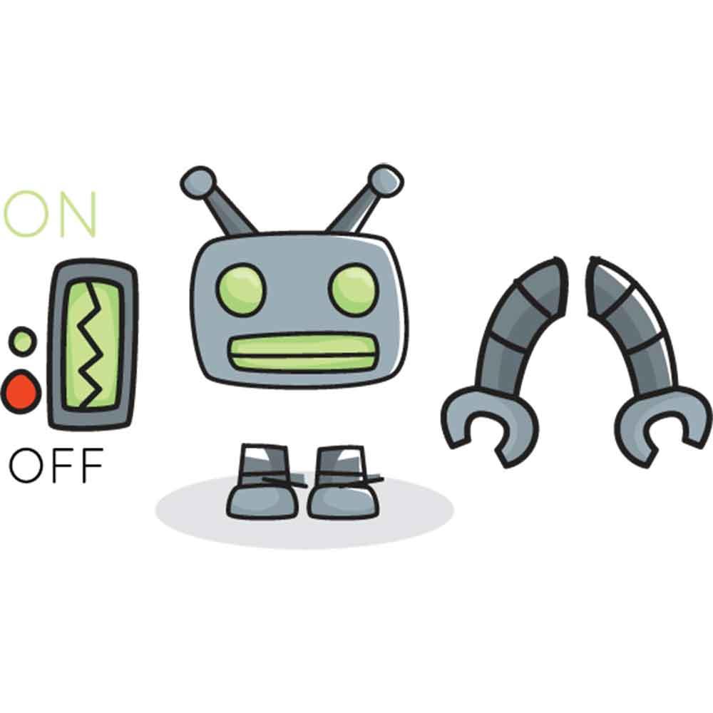 Adesivo de Parede Moderno Robo? Interruptor