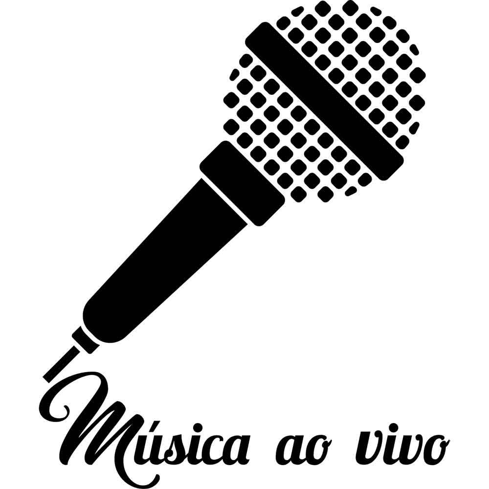 Adesivo de Parede Música ao Vivo