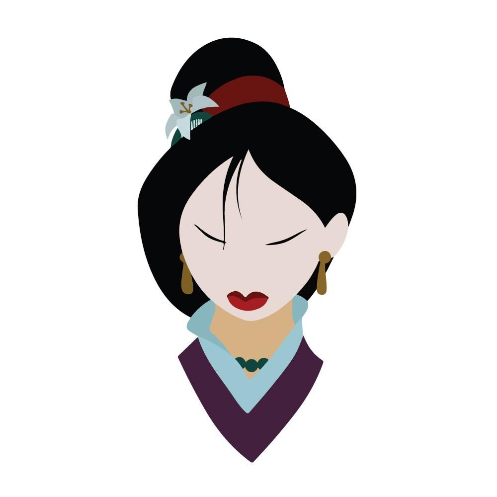 Adesivo de Parede Mulan