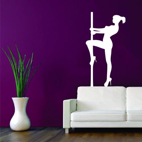 Adesivo De Parede Mulher Empoderada Pole Dancer