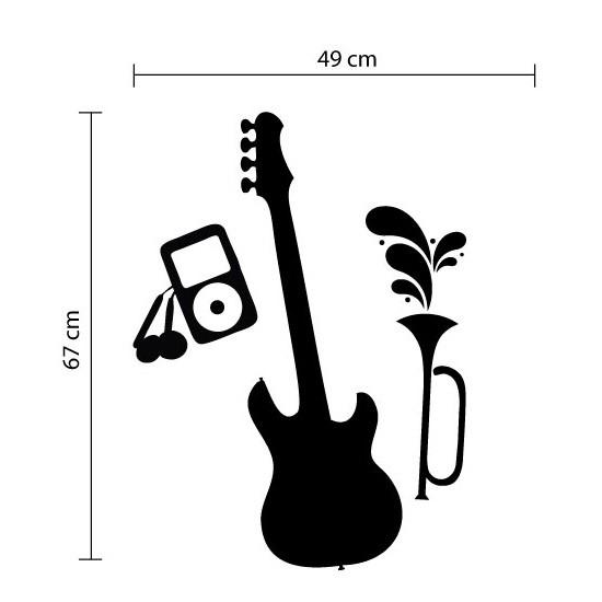 Adesivo de Parede Instrumentos Musicais Ipod