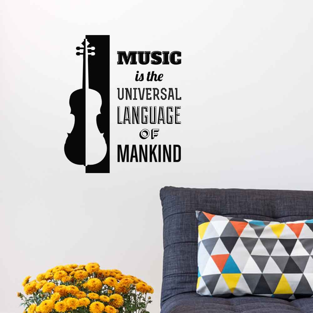 Adesivo de Parede Music Is The Universal Language of Mankind