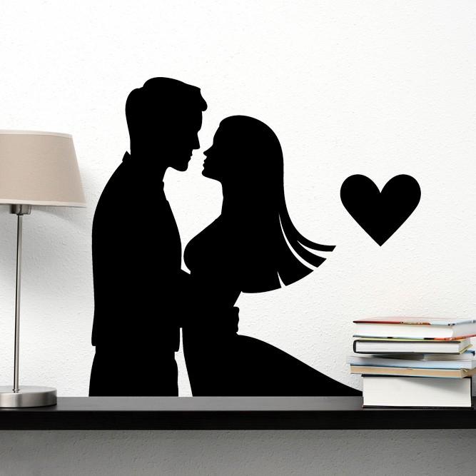 Adesivo de Parede Namorados Apaixonados