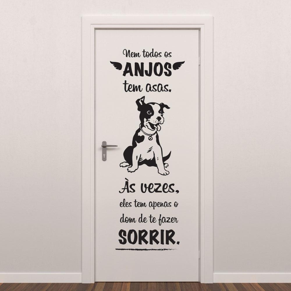Adesivo de Parede Nem Todo Anjo Dog