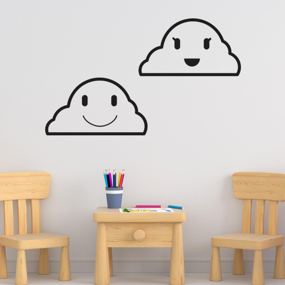 Adesivo de Parede Nuvens Smiles