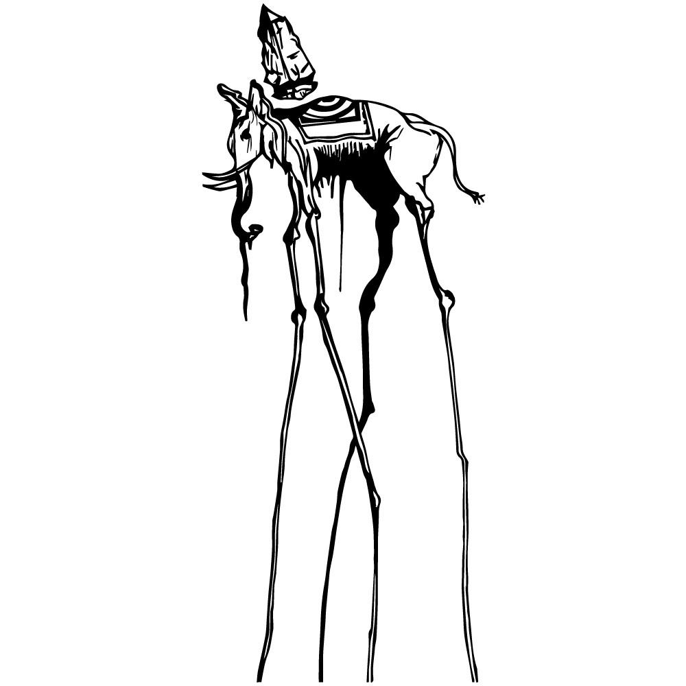 Adesivo de Parede O Elefante de Salvador Dalí