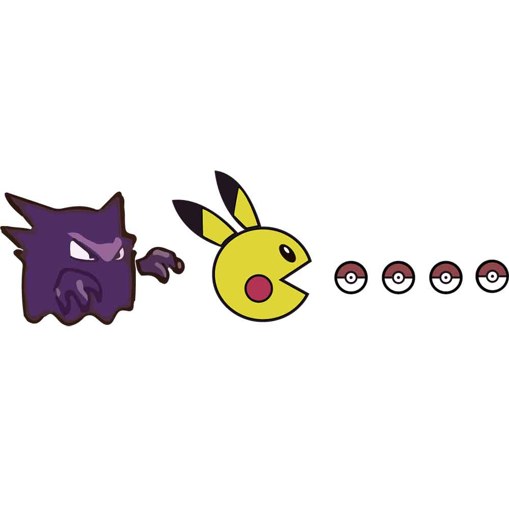 Adesivo de Parede Pac-Pokemon