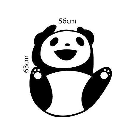 Adesivo de Geladeira Panda Pendurado