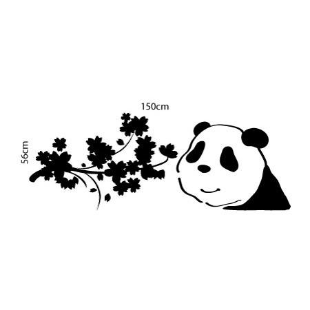 Adesivo de Geladeira Panda Plantas