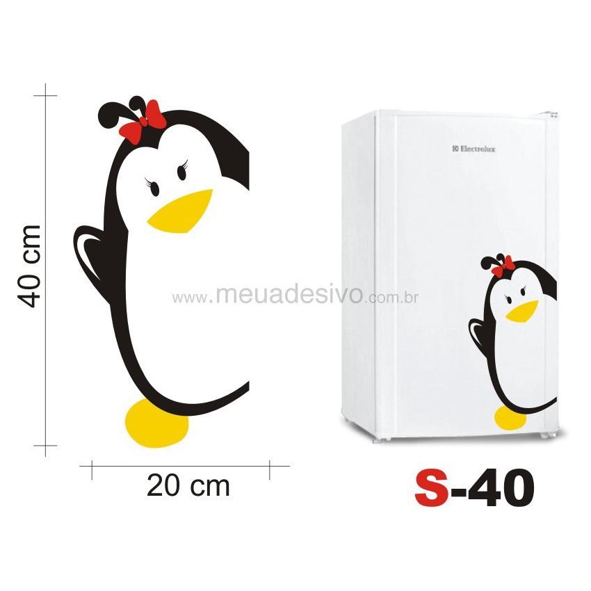 Adesivo de Parede para Frigobar Pinguim Female