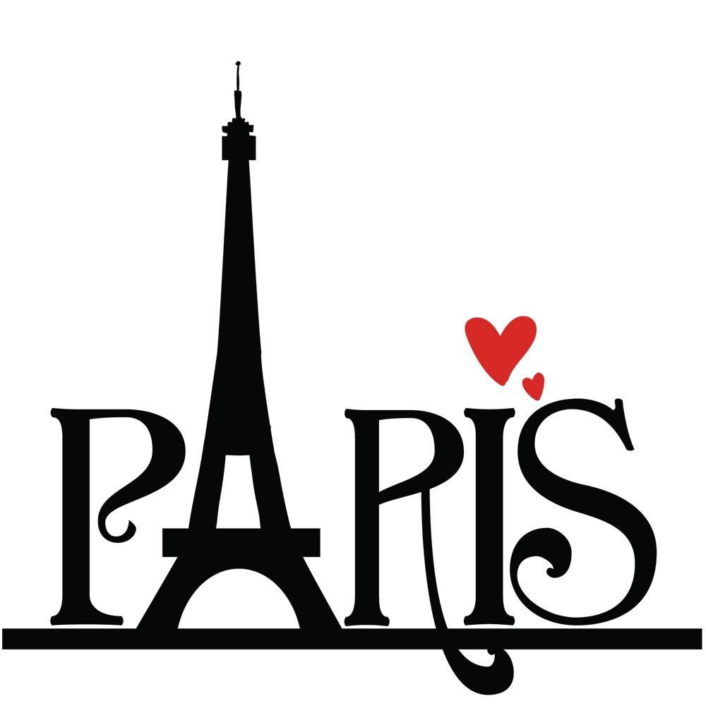 Adesivo de Parede Paris In Love