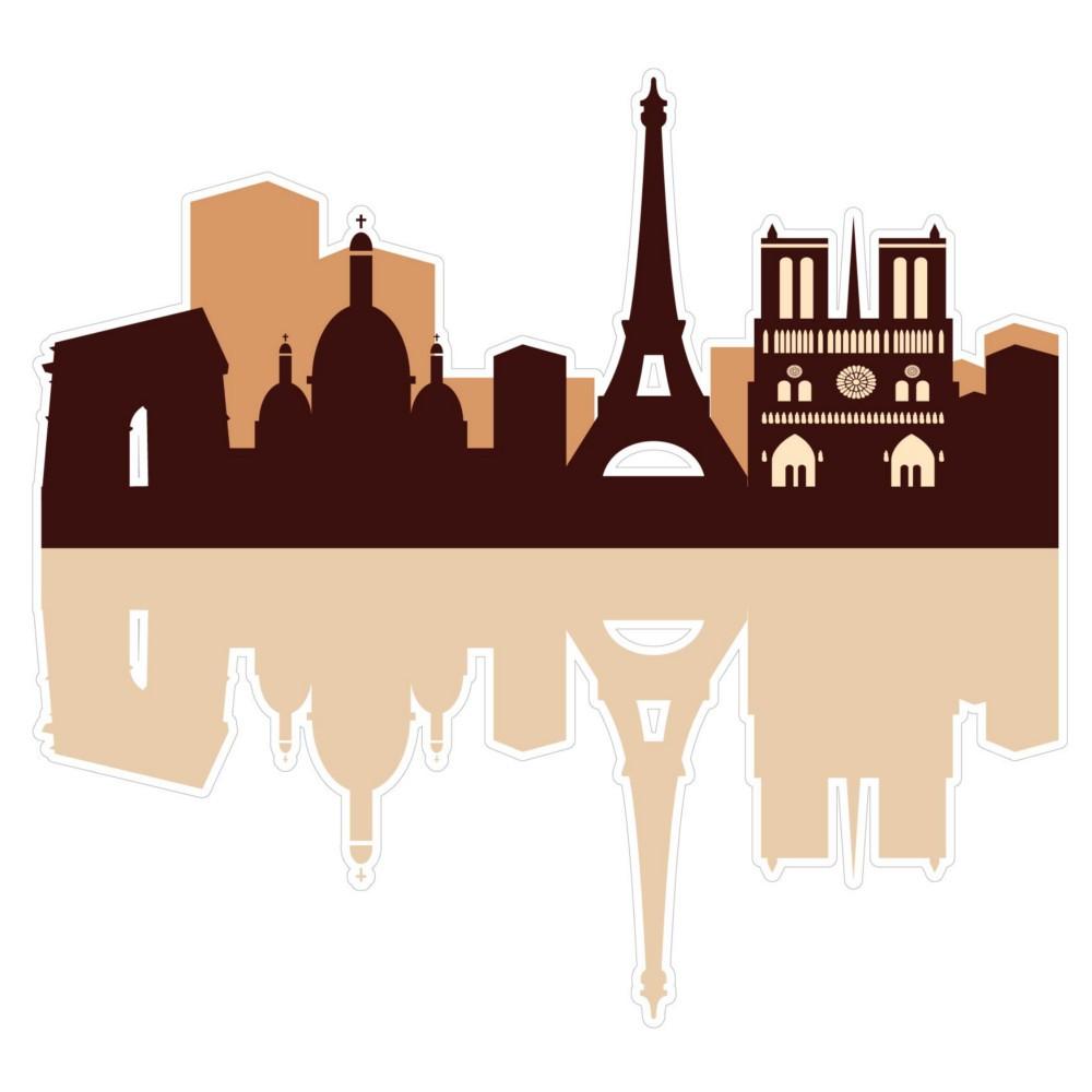 Adesivo de Parede Paris Monocromática