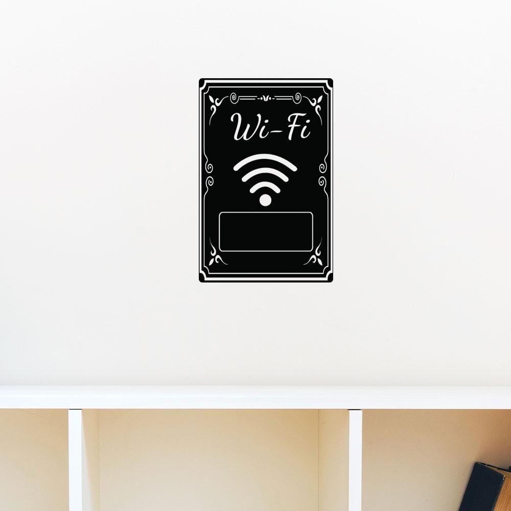 Adesivo de Parede Personalize sua Senha Wi-Fi