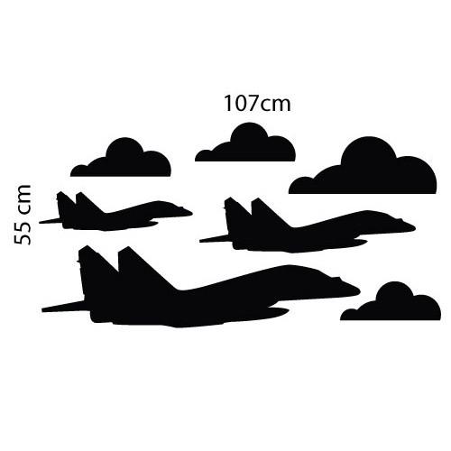 Adesivo de Parede Infantil Piloto Aviões