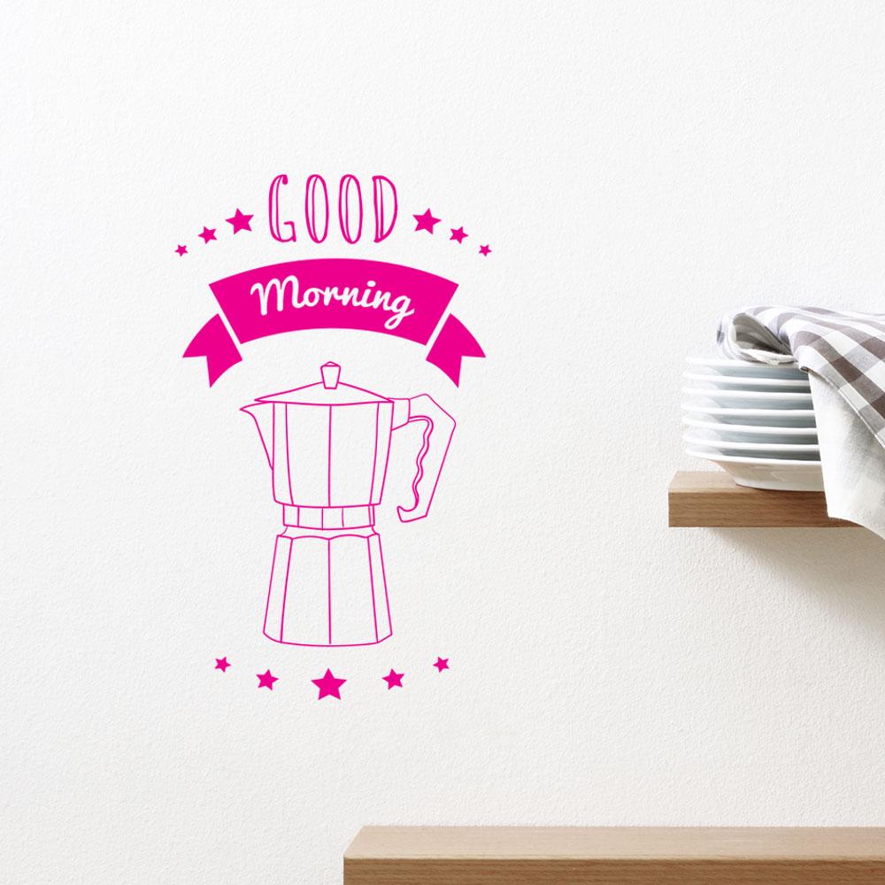 Adesivo de Parede Pink Good Morning Coffee