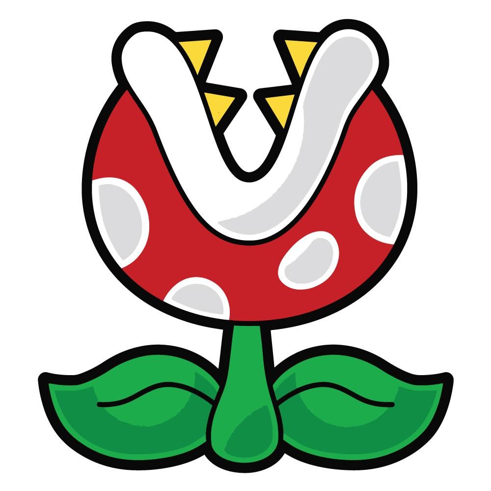 Adesivo de Parede Piranha Plant Mario Interruptor