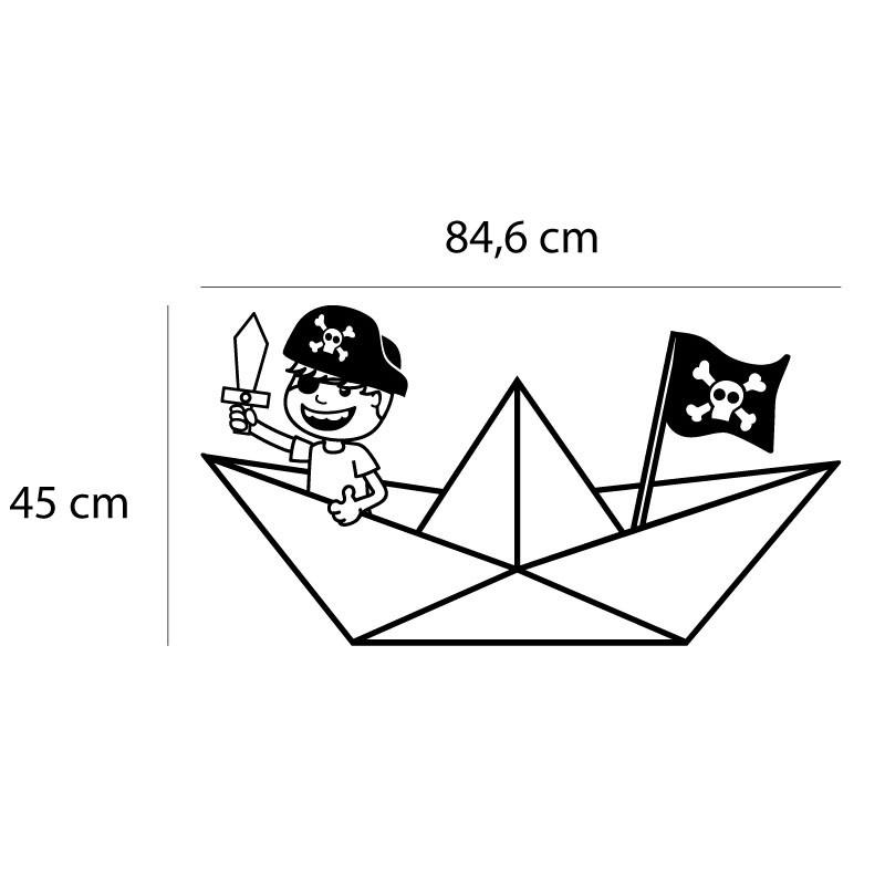 Adesivo de Parede Pirata