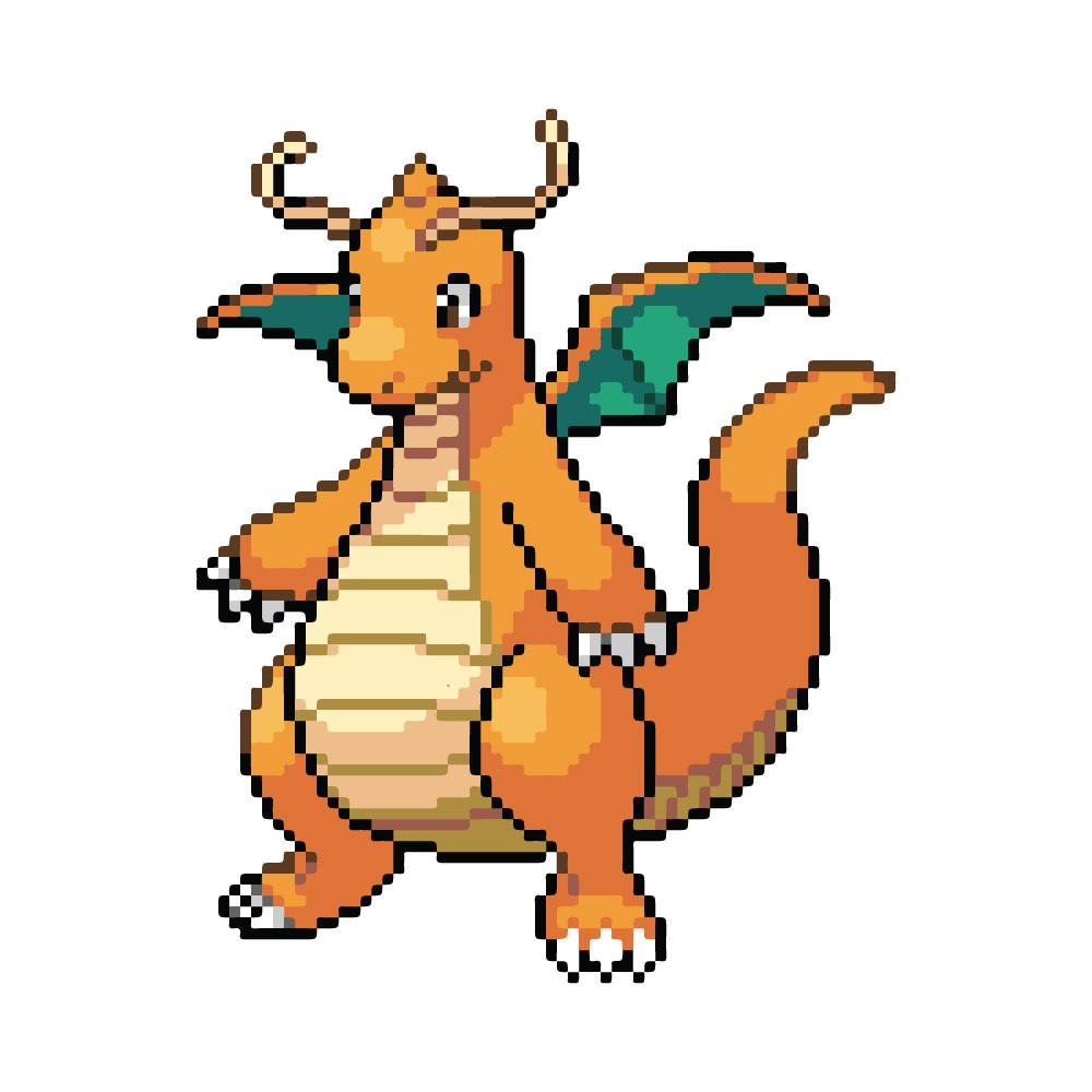 Adesivo de Parede Pixel Dragonite