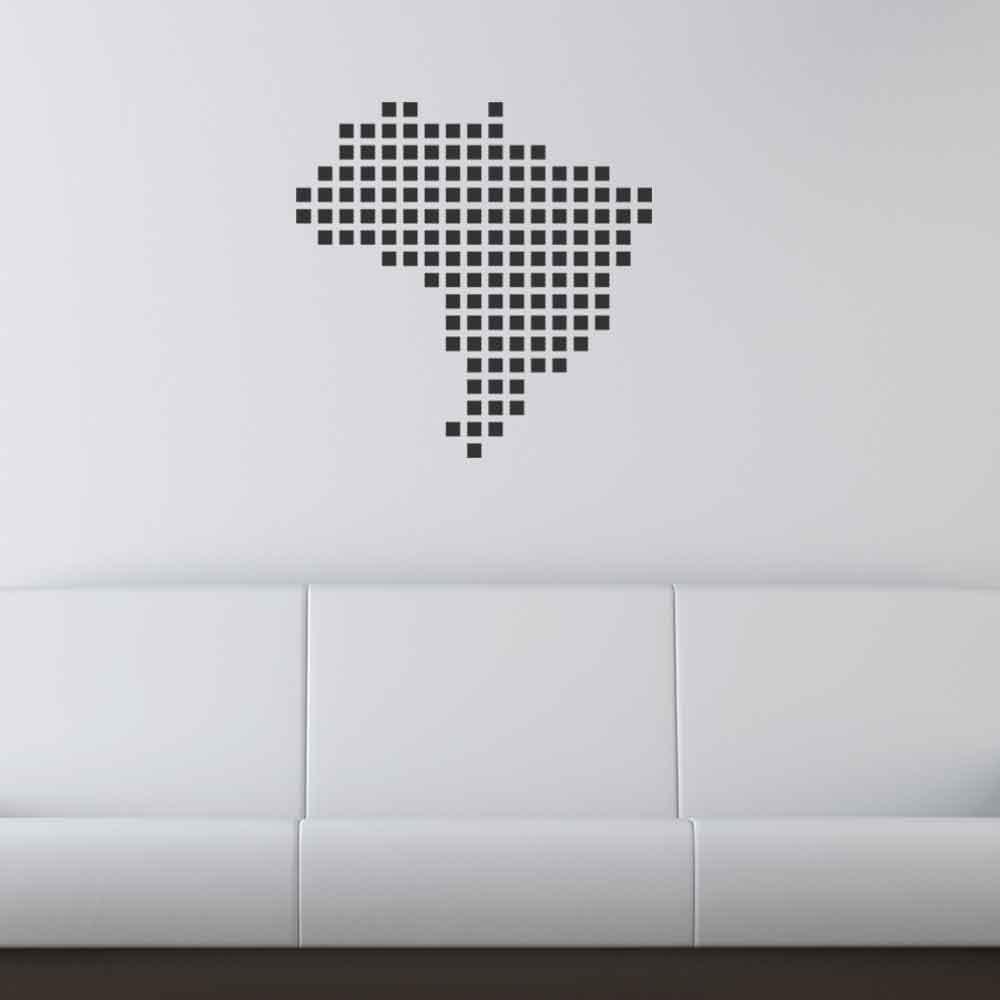 Adesivo de Parede Pixels Brazil