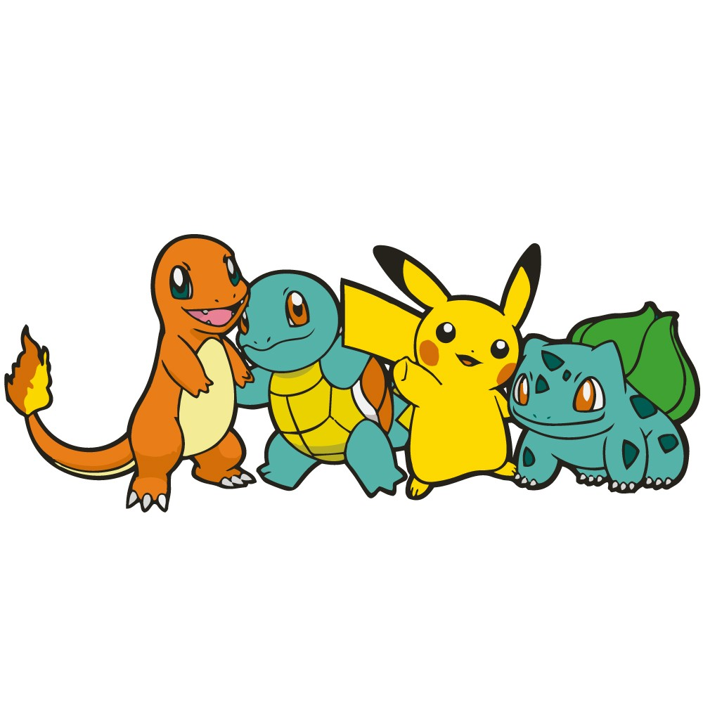 Adesivo de Parede Pokémon Friends
