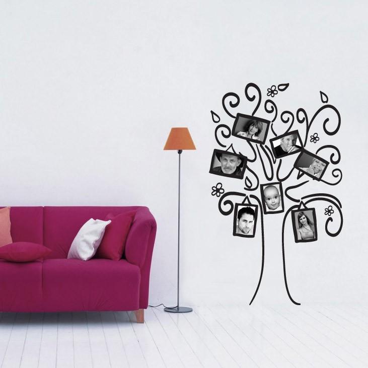 Adesivo de Parede Árvore Porta Retrato Em Família