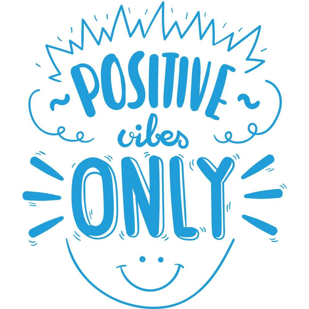 Adesivo de Parede Positive Vibes Only