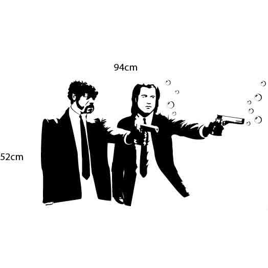 Adesivo de Parede Pulp Fiction by Iara Schiavon